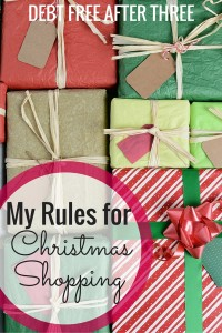 My Rules for Christmas Shopping